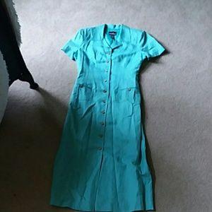 Button up tshirt dress